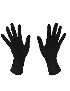 guantes latex negro
