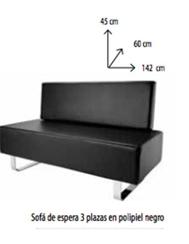 sofa espera negro