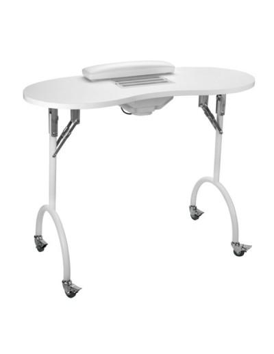 Mesa de manicura plegable con aspirador