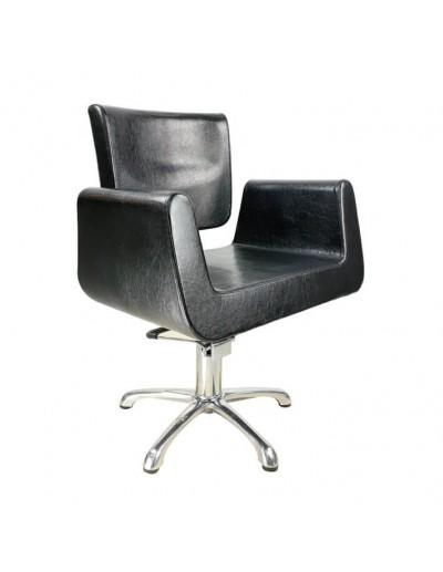 silla para peluqueria negra